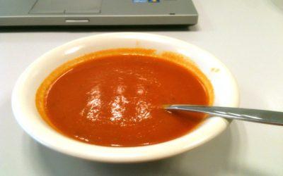 Zacht pittige paprika soep