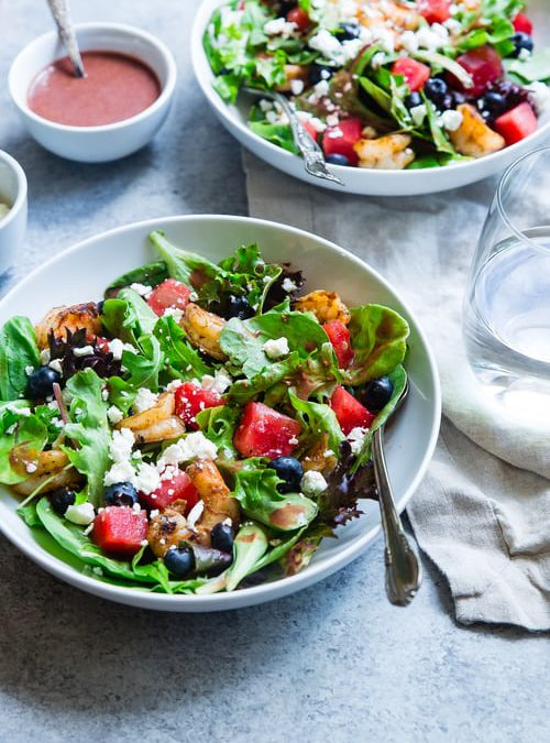 Recept: BBQ-salade met watermeloen en fetakaas